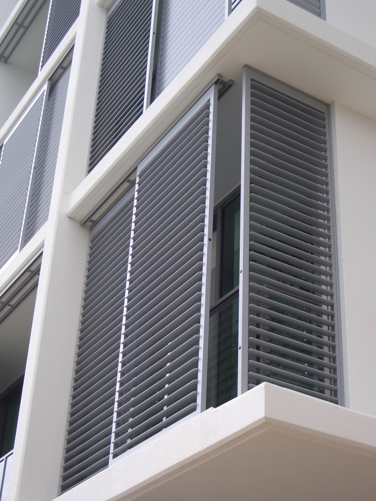 Aluminum exterior plantation shutters cleveland shutters for Window shutters