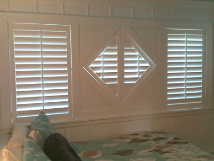 diamond shaped window shutters