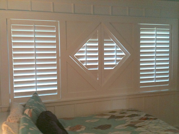 diamond shaped shutters