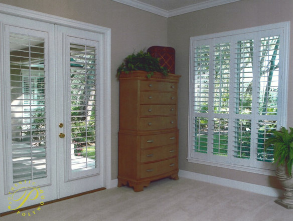 french door window shutters
