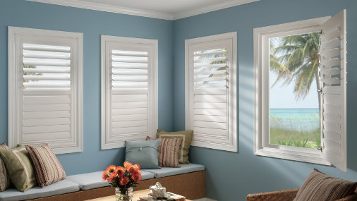 blue room window shutters