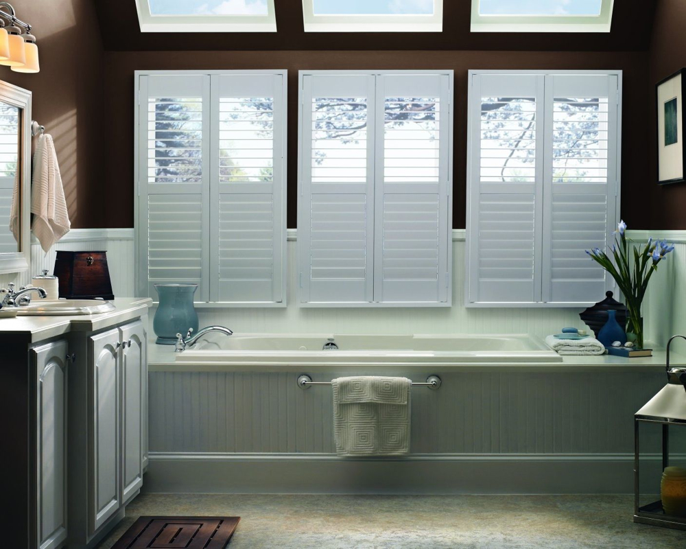 Graber Composite Shutters in bathroom