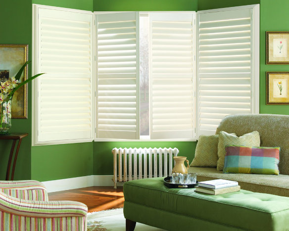 White Hunter Douglas Plantation Shutters