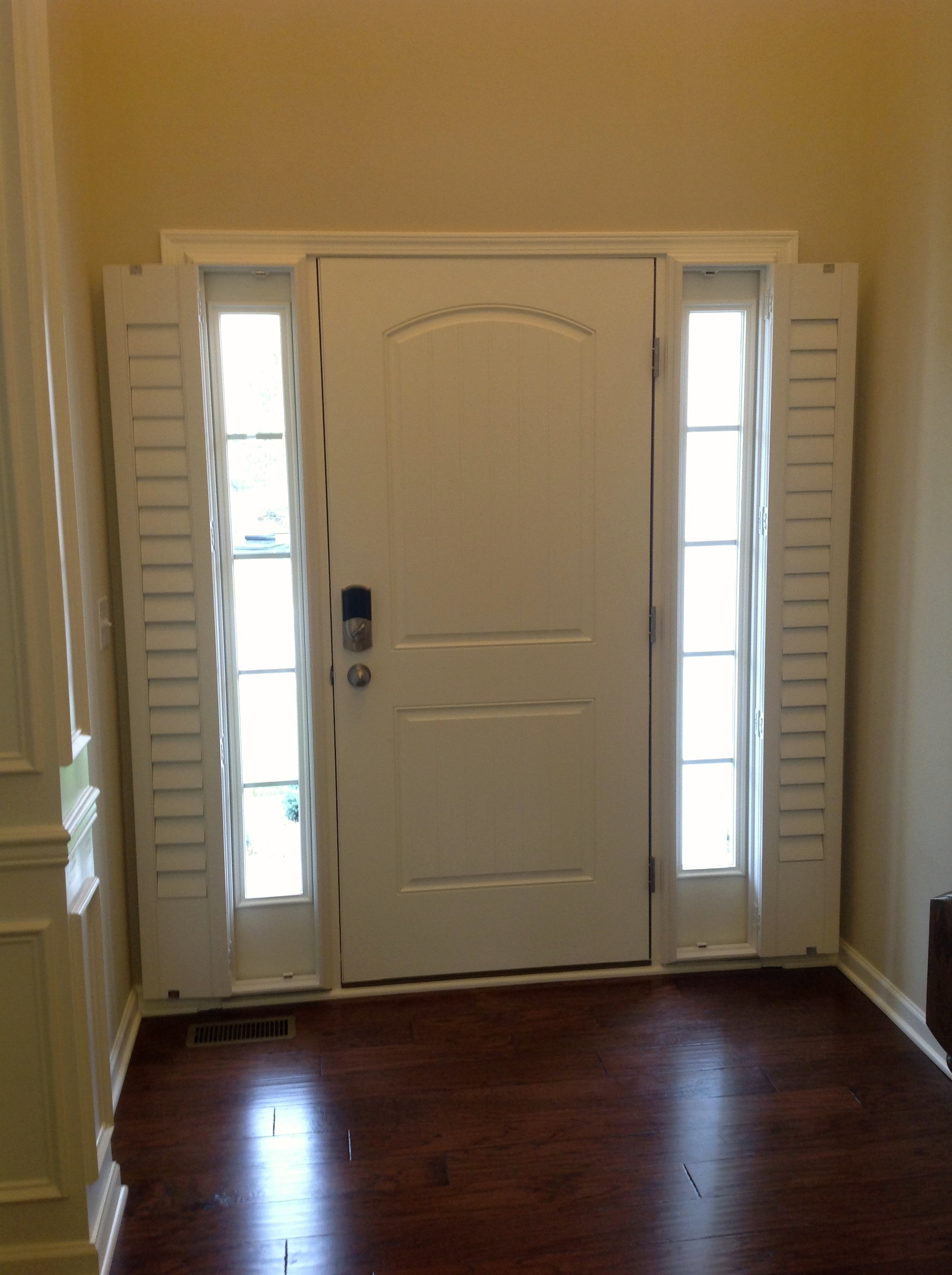 Door Window Cover Entry Door Sidelight Window Shutters Cleveland Shutters