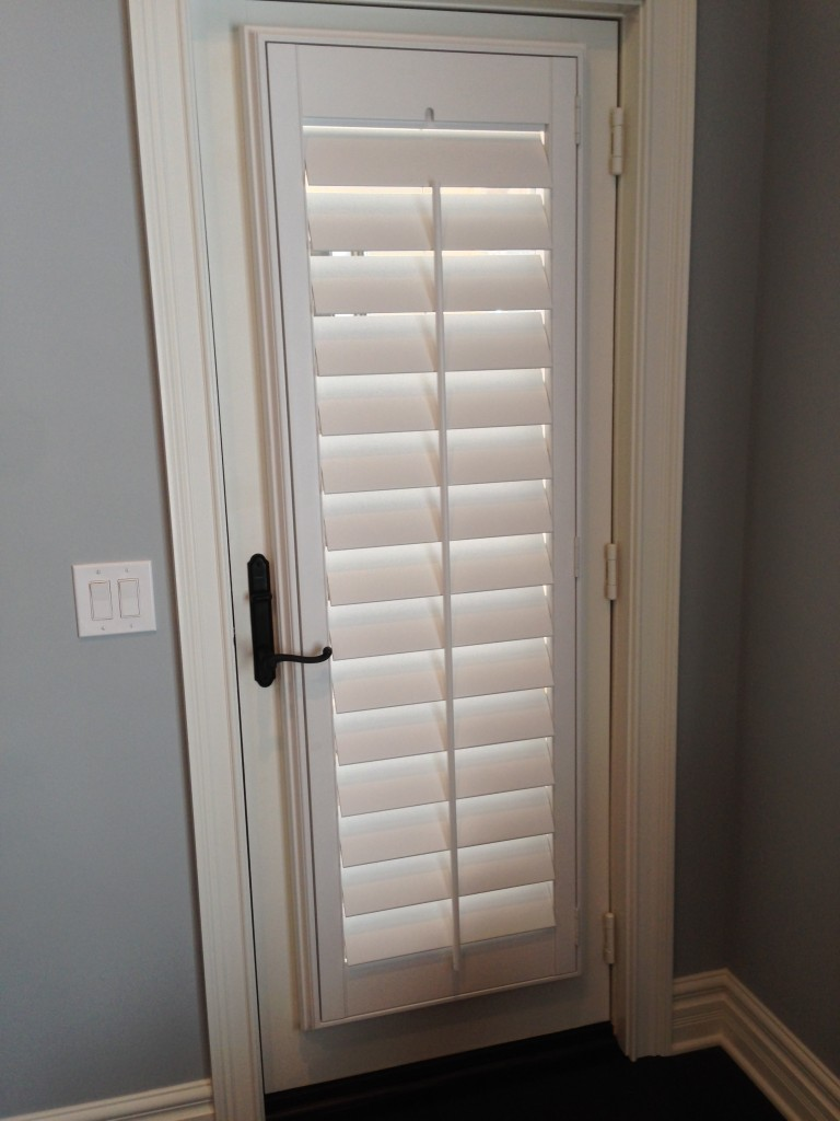 White interior french doors