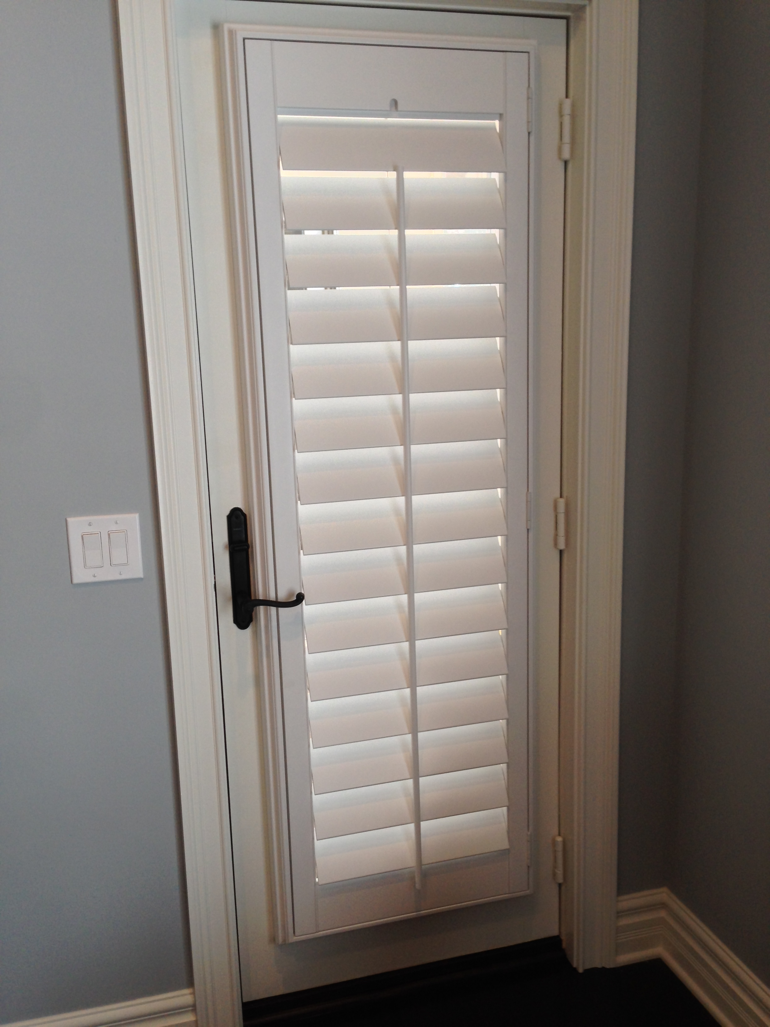 Front door side window treatments - Window Shutters For French Doors Cleveland Shutters