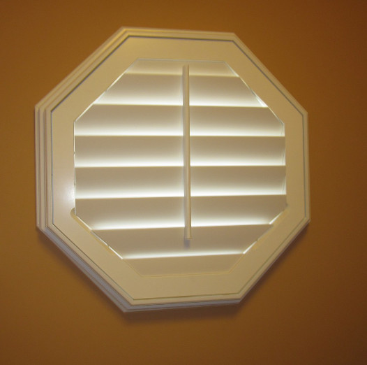 Octagon shaped windows images for Window treatment for oval window