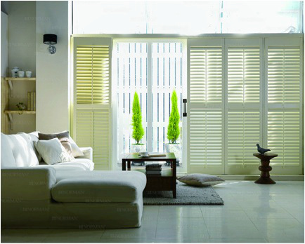 real wood window plantation shutters