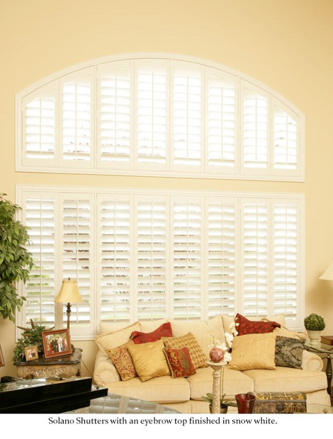 arched living room window shutters