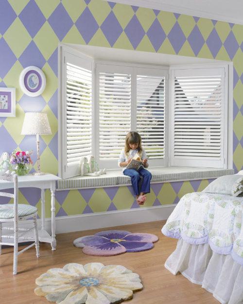 Children's Room Bay Window Shutters