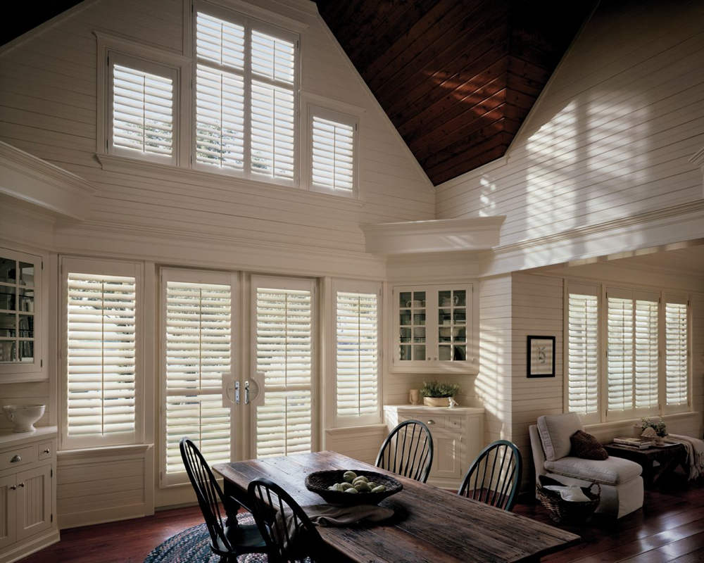 Final Slide: Hunter Douglas Heritance Wood Shutters