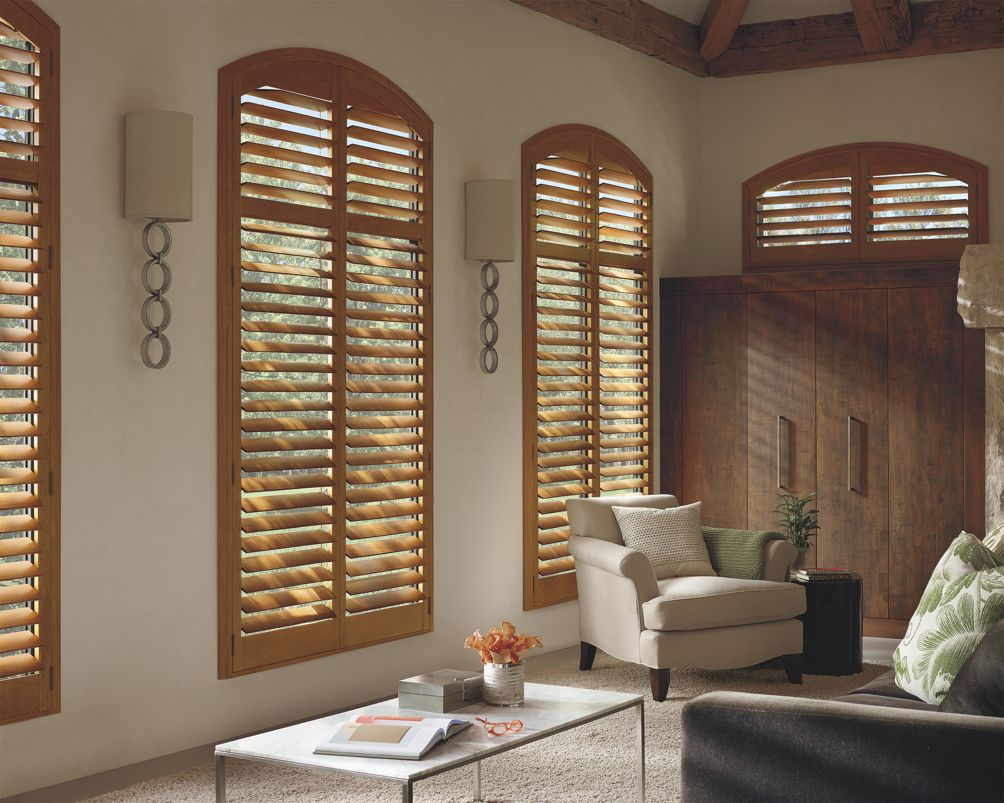 Hunter Douglas Louvered Arch Top Shutters
