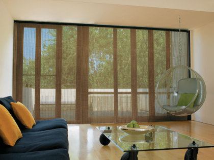 window covering panel tracks